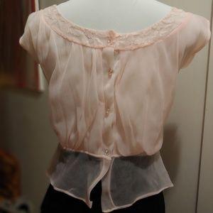 Sweet vintage 1940's sheer blouse